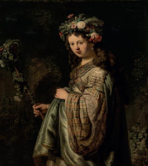 Rembrandt van Rijn, Saskia en Flore, 1634, musée de l'Ermitage, Saint-Pétersbourg.