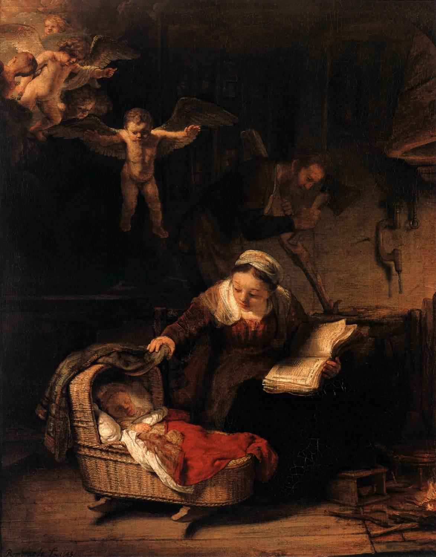 Rembrandt van Rijn, La Sainte Famille, 1645, musée de l'Ermitage, Saint-Pétersbourg.
