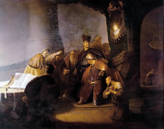 Rembrandt van Rijn, Judas rendant les trente deniers, Mulgrave Castle, Lythe, North Yorkshire.