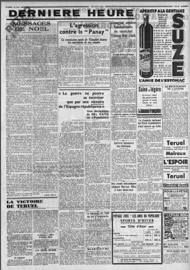 Le Populaire, 26 décembre 1937, BNF (Retronews)