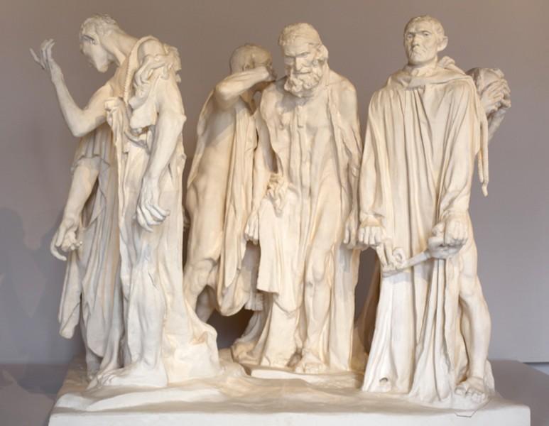 « Monument aux Bourgeois de Calais », 1889, Auguste Rodin, musée Rodin, Paris, Photographie Éric Simon.