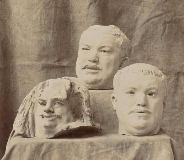 « Trois études de la tête de Balzac », 1891-1892, Auguste Rodin, Paris, musée Rodin.