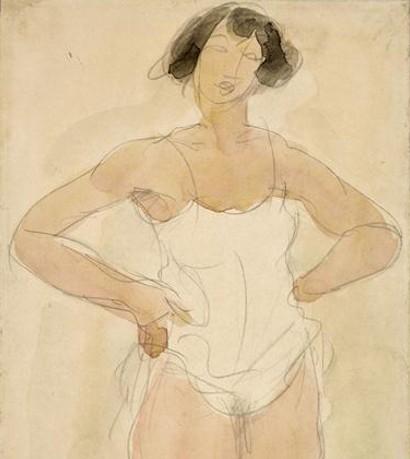 « Étude de femme », sans date, Auguste Rodin, musée du Louvre, Paris.