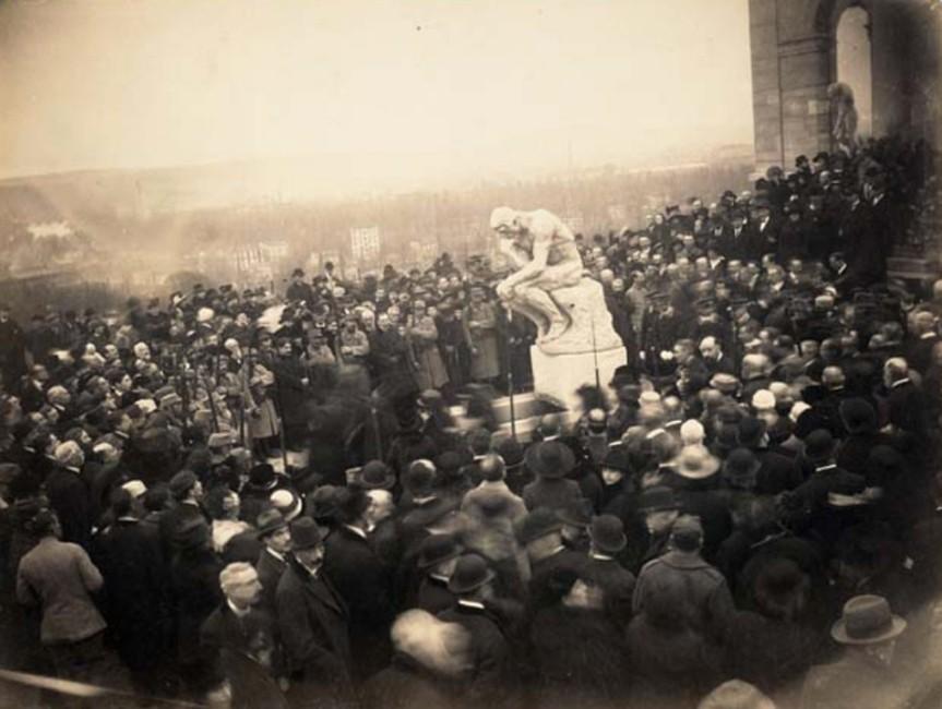 « Obsèques de Rodin », 1917, Pierre Choumoff, musée Rodin, Paris.