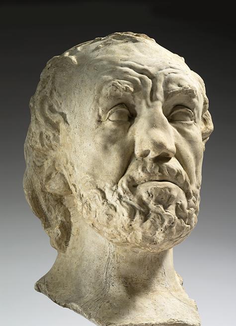 « L'Homme au nez cassé », première version, 1864-1865,  Auguste Rodin, musée Rodin, Paris.