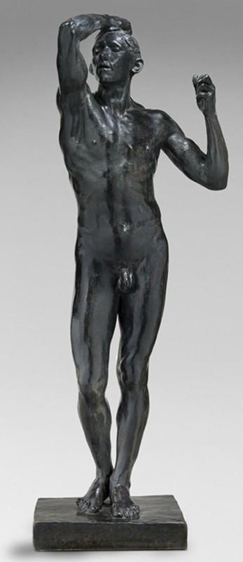 « L'Âge d'airain », 1877, Auguste Rodin, statue en bronze et fonte au sable par Alexis Rudier, avant 1916, musée Rodin, Paris.