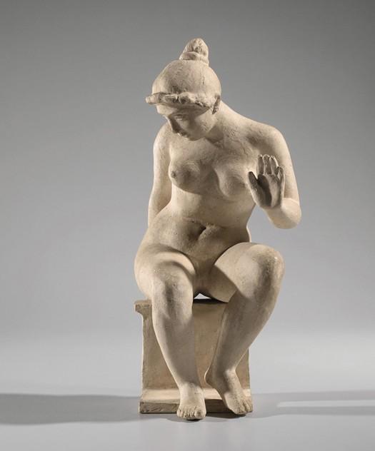 « Léda », Aristide Maillol, 1900, terre cuite, musée maillol, Paris.