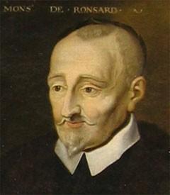 Pierre de Ronsard (11 septembre 1524, château de la Possonnière - 28 décembre 1585Prieuré de Saint-Cosme, Tours), portrait posthume, vers 1620, musée de Blois