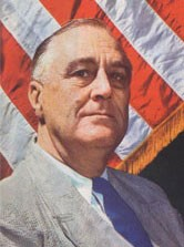 Franklin Delanoo Roosevelt (30 janvier 1882, Hyde Park, New York ; 12 avril 1945, Warm Springs, Géorgie)