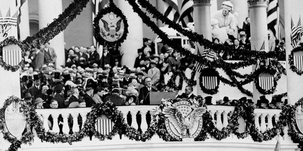 Discours d'investiture de Franklin Roosevelt le 5 mars 1933 (DR)