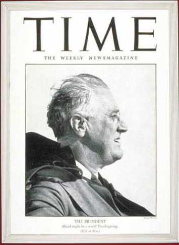 Le président Roosevelt en couverture de Time (29 novembre 1943)