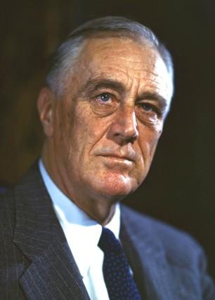 Franklin Delanoo Roosevelt en 1944