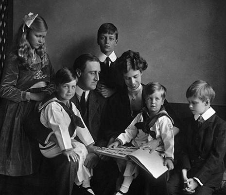 Franklin et Eleanor Roosevelt en famille