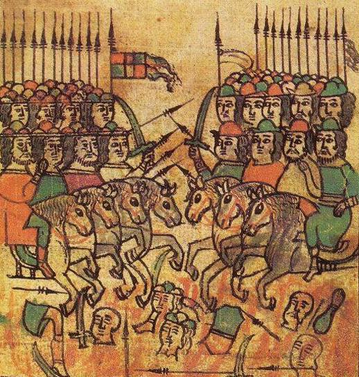 Bataille de Koulikovo, miniature du XVIIe siècle, chronique « La Légende de Mamay ».