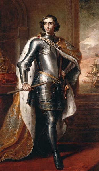 Portrait de Pierre le Grand, Gottfried Kneller, 1698, Palais de Kensington, Londres, DR.