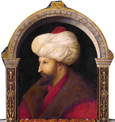 Mehmed II le Conquérant, Gentile Bellini, 1480, National Gallery, Londres.