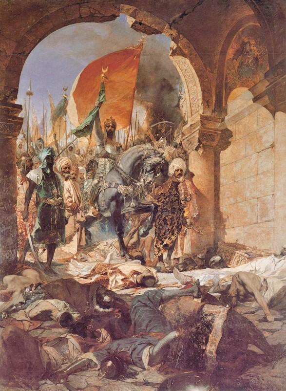 Entrée du sultan Mehmet II à Constantinople le 29 mai 1453, Benjamin Constant, 1876, musée des Augustins, Toulouse.