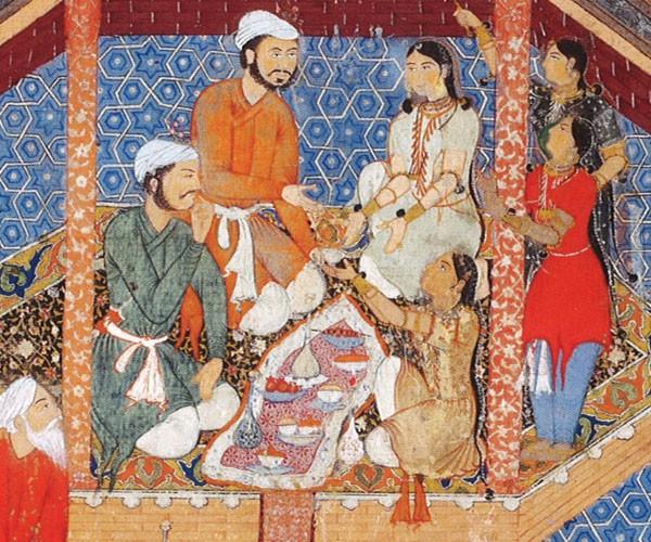 Le prince alamshah rustam et son amoureuse mihr afruz dans un pavillon de jardin inde xvie - Il faut cultiver notre jardin signification ...