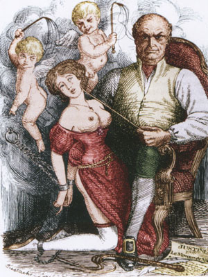 Illustration colorisée pour Justine (édition de 1800)