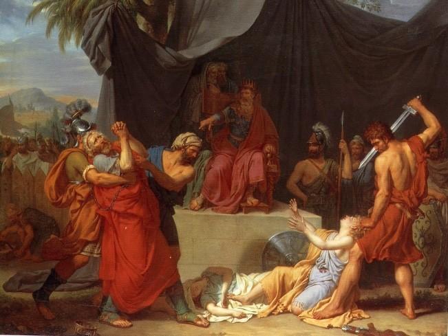 Nabuchodonosor fait tuer les enfants de Sédécias sous les yeux de leur père (François-Xavier Fabre, 1787, École nationale supérieure des beaux-arts, Paris)