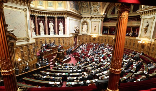 L'hémicycle du Sénat (palais du Luxembourg, Paris), photo : Sénat, 2014