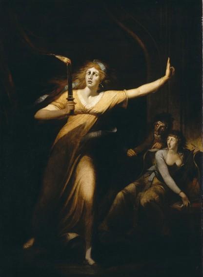 Johann Heinrich Füssli, Lady Macbeth somnambule, 1825, Paris, musée du Louvre.