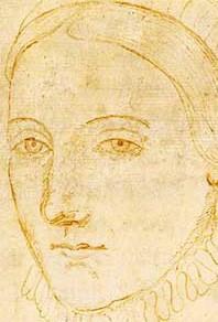 Anonyme - Portrait présumé d'Anne Hathaway, XVIe siècle, New York, Colgate University Library.
