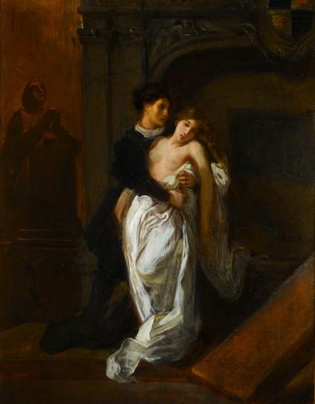 Eugène Delacroix, Roméo et Juliette au tombeau des Capulets, 1850, Paris, musée Eugène Delacroix.