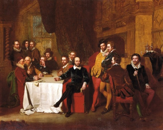 John Faed, William Shakespeare et ses amis à la taverne Mermaid, 1851, coll. part.