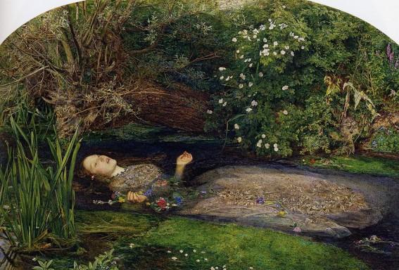 John Everett Millais, Ophélie, 1851, Londres, Tate Britain.