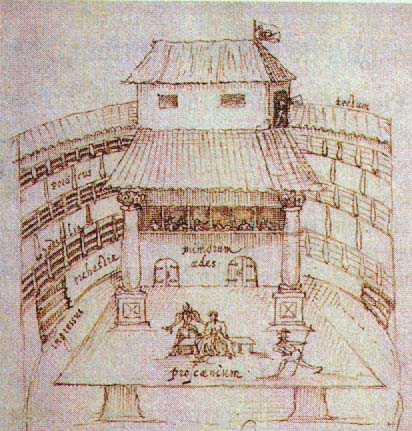 Johannes de Witt, Croquis du Swan Theater, 1596, Utrecht, University Library.
