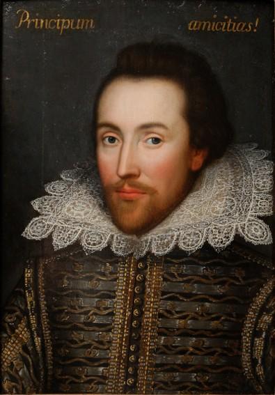 Anonyme, Portrait de Shakespeare dit Portrait de Cobbe, vers 1610, Surrey, Hatchlands Park.