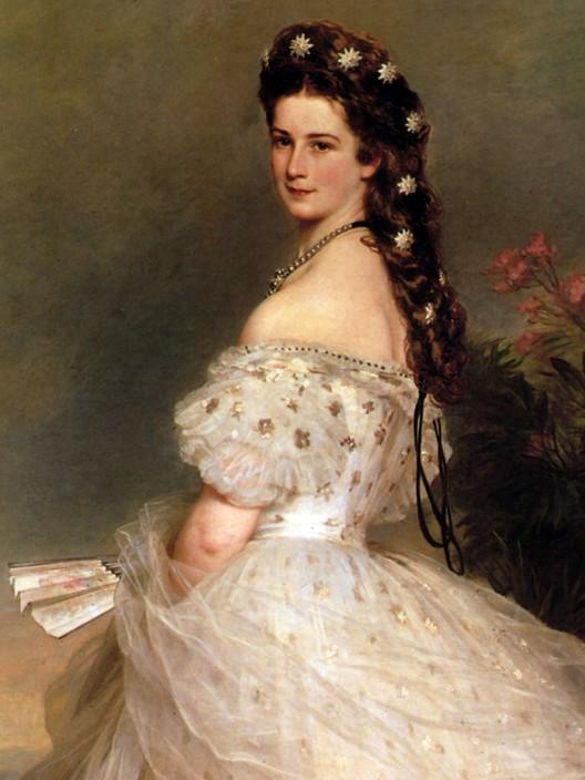 L'impératrice Élisabeth d'Autriche en tenue de bal (Franz-Xaver Winterhalter, 1865, Hofburg, Vienne)