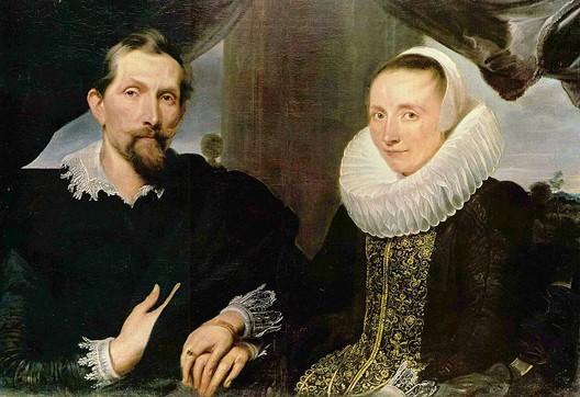 Portrait du peintre flamand Frans Snyders et de sa femme, par Antoon Van Dick (vers 1632, musée de Hesse, Cassel)