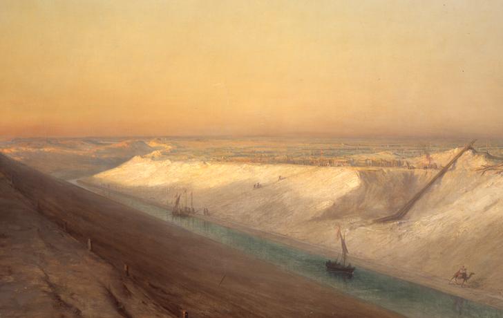 François-Pierre Bernard Barry, Le Chantier n°5 : vue du Canal de Suez, 1863