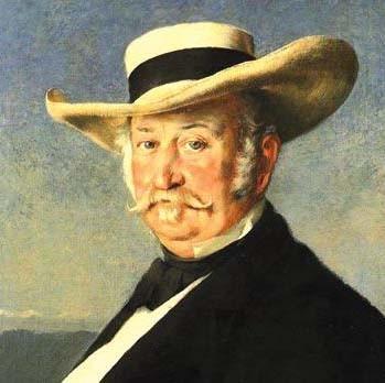 Johann Augustus Sutter (Kandern, Suisse, 15 février 1803 ; Washington, 17 juin 1880)