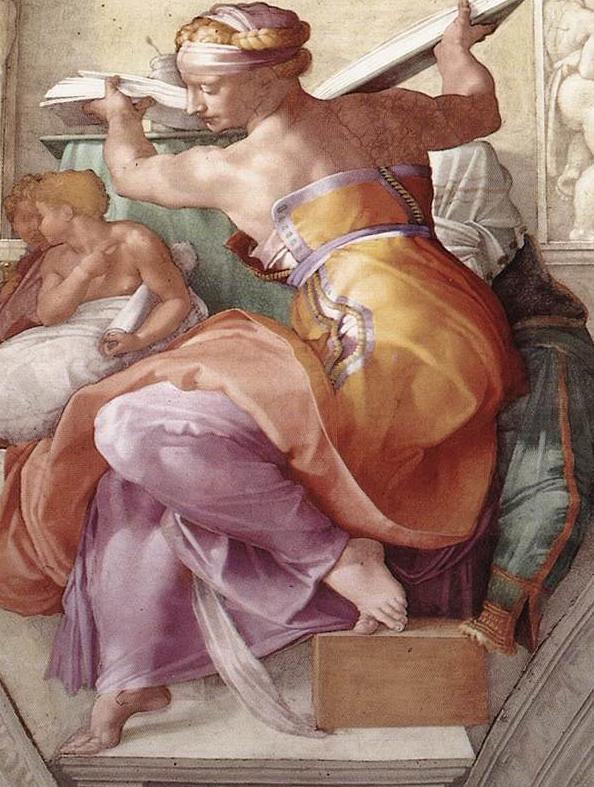 La Sybille Lybique (1508, Michel-Ange, chapelle Sixtine, Vatican)