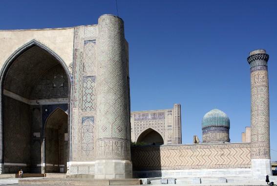 Samarcande, vue de la mosquée Bibi-Khanum.