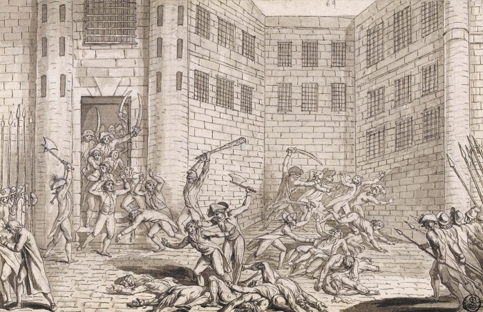 Anonyme, Massacre à l'abbaye de Saint-Germain-des-Prés, 2 septembre 1792 – Photo RMN-Grand Palais – T. Le Mage – DR.