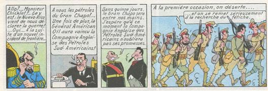 L'oreille cassée, page 42 (Tintin, Hergé, Casterman 1937)