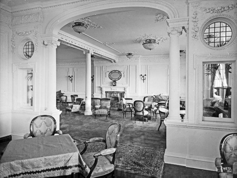 Les salons des premières classes à bord du Titanic (1912)