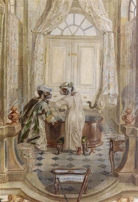 Christophe huet d cor de la petite singerie la - Cabinet de toilette avec eau courante ...