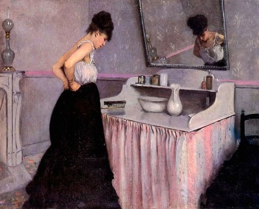 Gustave Caillebote, Femme à sa toilette, 1873, coll. part.