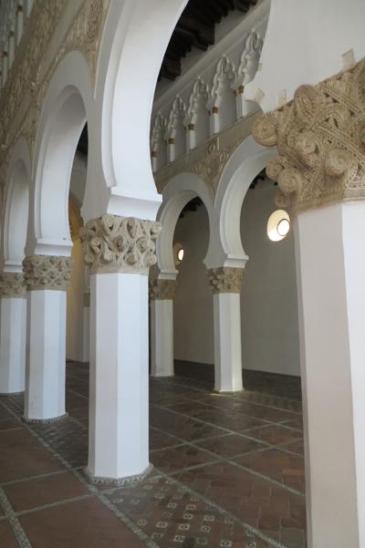 La synagogue Santa Maria Blanca, à Tolède (photo : Herodote.net, 2016)