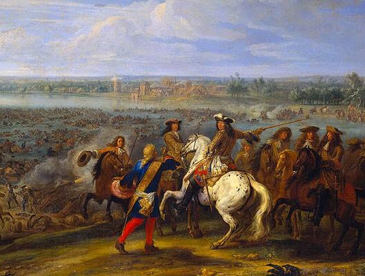 Le passage du rhin par louis xiv devant tolhuis 12 juin 1672 par adams frans van der meulen - Le roi du matelas cambrai ...
