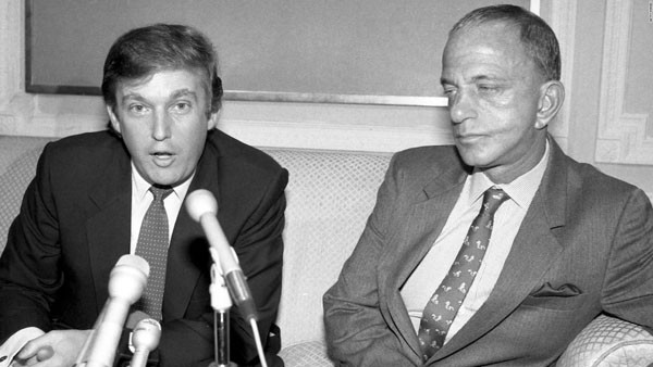 Donald Trump et son mentor, l'avocat Roy Cohn