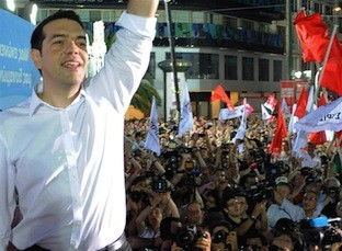 Alexis Tsipras, leader du parti grec Syriza, 2014 (DR)