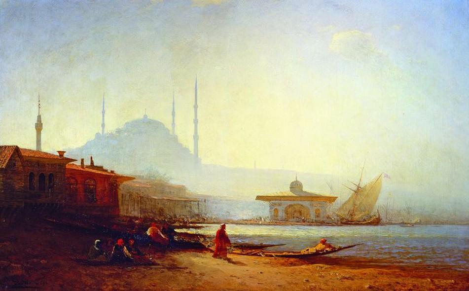 Vue de Constantinople, Félix Ziem, 1864, musée des Beaux-Arts de Rouen, DR.