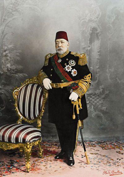 Mehmed V, 35e Sultan de l'Empire Ottoman et 114e calife de l'islam, Carl Pietzner, 1914, Palais de Topkapi, Istanbul.