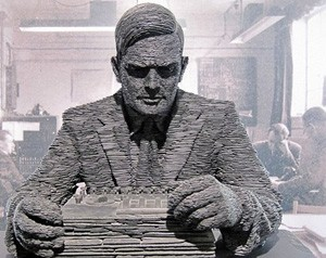 Stephen Kettle, Statue d'Alan Turing, 2007, Bletchley Park museum
